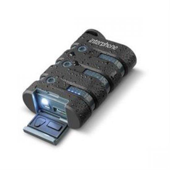 Interphone power banka, záložní baterie s USB výstupem 9000mAh, černá - INT10