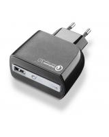 Cestovní nabíječka CELLULARLINE QUALCOMM QUICK CHARGE 3.0 - INT65