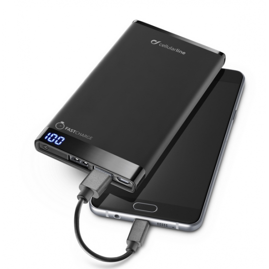 Prémiová powerbanka CellularLine FREEPOWER MANTA, 12000mAh - INT80