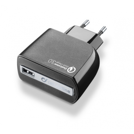 Cestovní nabíječka Cestovní nabíječka CELLULARLINE QUALCOMM QUICK CHARGE - INT95