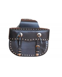 Leather choppers Saddlebag - BRA03