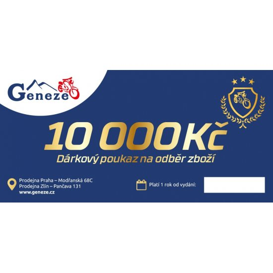 Poukázka na nákup na 10.000 Kč