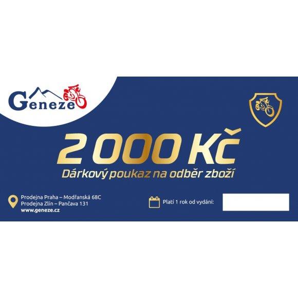 Poukázka na nákup na 2000 Kč