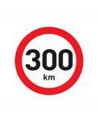 """Samolepka """"300 km"""""""