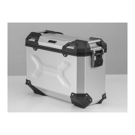 Hliníkový kufr SW-MOTECH TRAX Adventure levý 45l stříbrný - KUF036