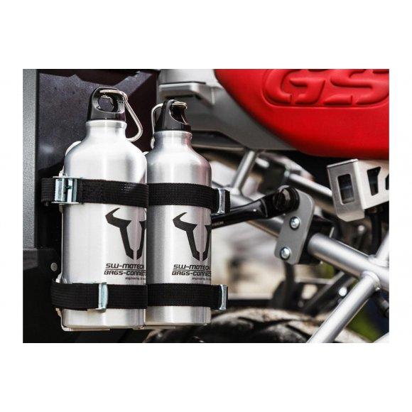 Hliníkové láhve SW-MOTECH 2x 0,6 litru vč. držáku - LAH02