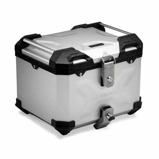 Hliníkový kufr top box SW Motech TRAX Adventure 38 stříbrný - KUF030