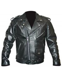 Motorcycle Leather Chopper Jacket - KB 05