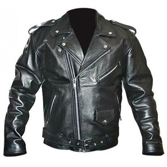 Motocyklová kožená bunda chopper - KB05