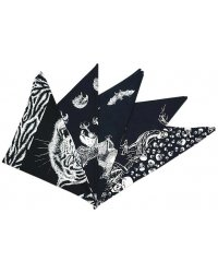 Cotton Triagular Bandanna, Various Themes SA 03