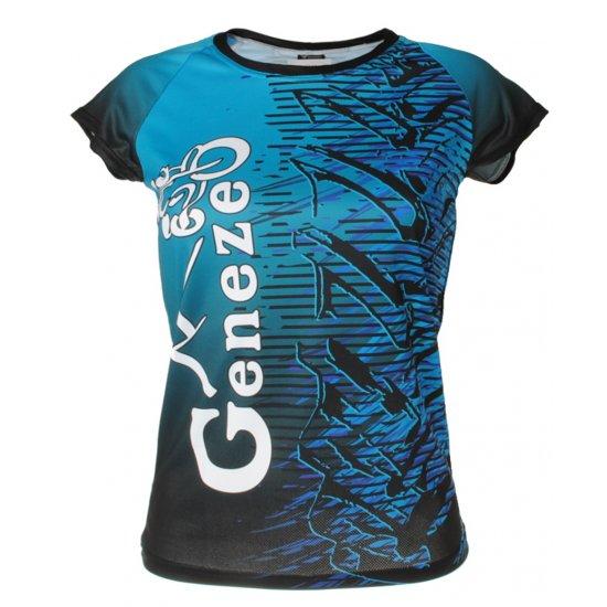 Dámské modré tričko Geneze - TR027