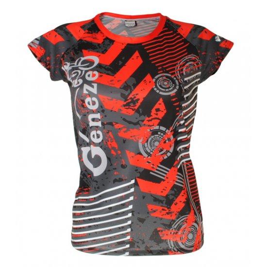 Dámské červené tričko Geneze - TR028
