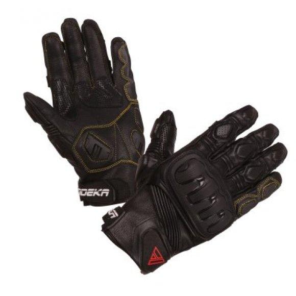 Motocyklové kožené rukavice Modeka Baali - RK01