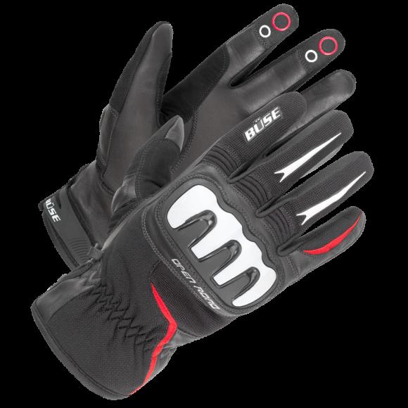 Motocyklové rukavice Büse Open Road Sport červené