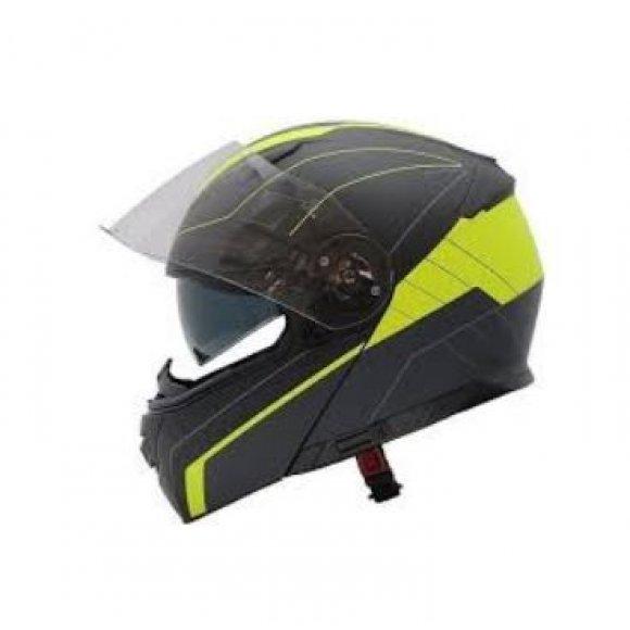 Vyklápěcí přilba MAXX FF950  black/yellow