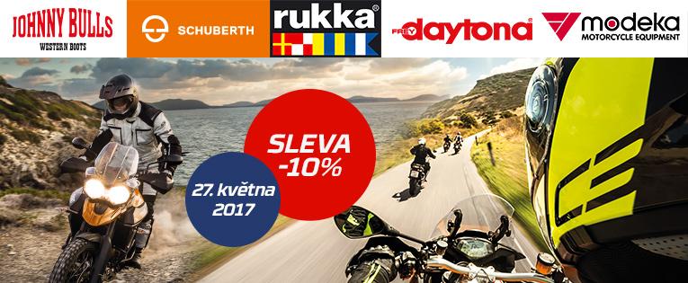 Blíží se Šťastná sobota a s ní i sleva 10% na Vaše nové moto vybavení!